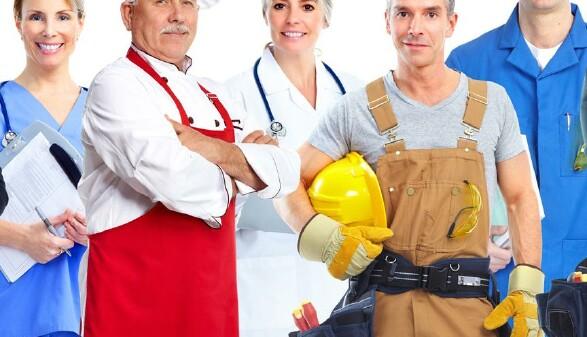 Arbeitnehmer aus verschiedenen Berufssparten © Kurhan , stock.adobe.com