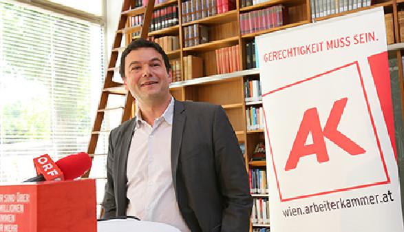 """Thomas Pikettys Bestseller """"Kapital im 21. Jahrhundert"""" analysiert Gesetzmäßigkeiten, die hinter der Konzentration und Verteilung von Kapital stecken. © Günther Peroutka, AK Wien"""