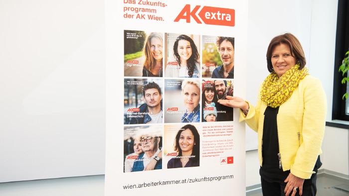 AK Präsidentin Renate Anderl bei der Präsentation des AK Zukunftsprogramms. © Erwin Schuh