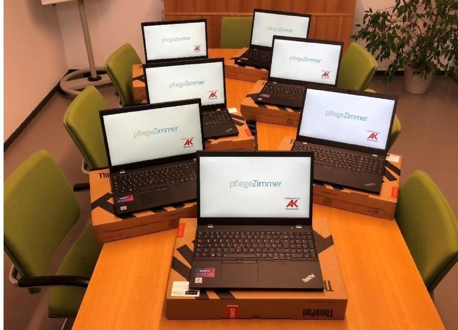 Vom AK-Zukunftsfonds geförderte Hardware © -, Das Pflegezimmer Handels- und Service GmbH
