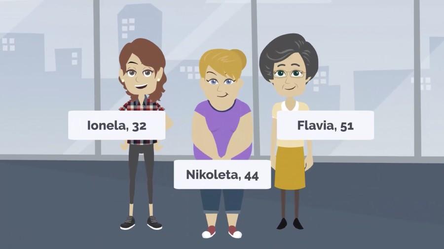 Die drei Protagonistinnen der Lehr- & Lernvideos © vida, vidaflex, Vida