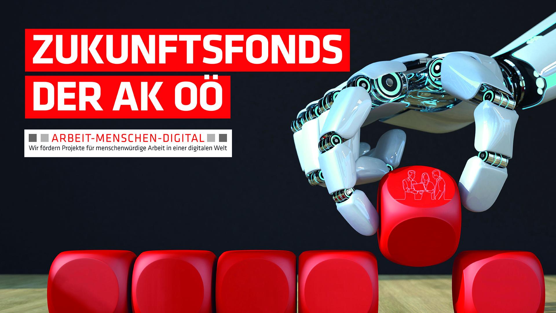 Roboterhand greift Würfel © Alexander Limbach, One Line Man, fotolia   akooe